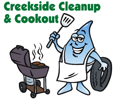 Creekside cleanup cookout guy small version