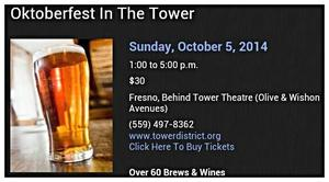 Medium oktoberfest in the tower