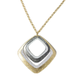 Rush Squares Mix Metal Necklace