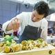 Chef Greg Hozinsky prepares Norwegian cod