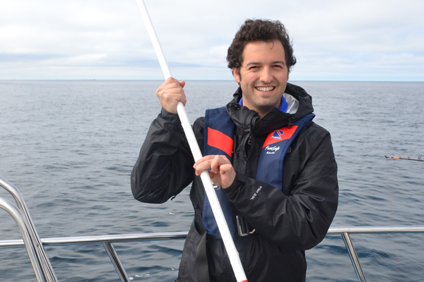 Chef Greg Hozinsky fishes in Norway
