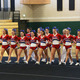 The Tewksbury High Varsity cheerleaders compete at The Marshfield Invitational. Photo courtesy of Kelly Wentworth.