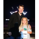 "NASCAR Sprint Cup Series Chase contender Brad Keselowski, driver of the #2 Miller Lite Ford, poses with 10-year-old fan Stella Pace during the ""Who's Got Game?"" video game fan challenge on the world's largest high definition LED video board at Texas Motor Speedway on October 20, 2014 in Fort Worth, Texas. Keselowski was visiting to promote the Nov. 2 AAA Texas 500 at Texas Motor Speedway.(Photo by Sarah Glenn/Getty Images for Texas Motor Speedway)"