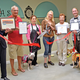 Heidi Cooper, cuts the ribbon on her new salon with members of the San Clemente Chamber of Commerce.