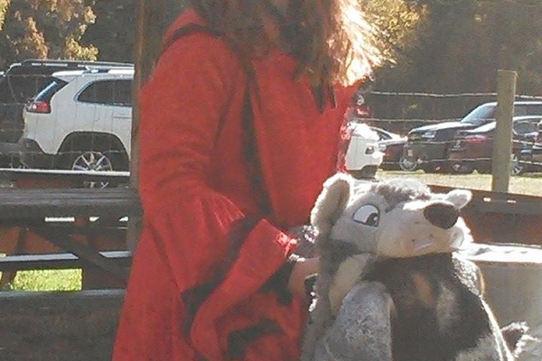 "Red Riding Hood (Kayleigh-Ann) and The Big Bad ""Wolf""? Submitted by Jenny Nagle"