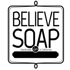Medium believe soap label black ping