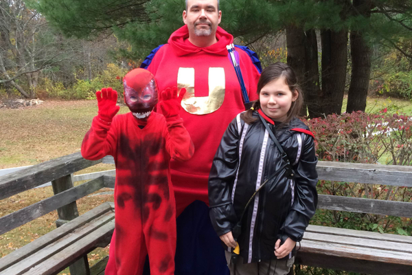 Carnage, Katniss Everdeen and Underdog.  Submitted by Bianka Kolb