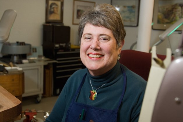 Jewelery artist Cathy Cline will show at the PlacerArts studio in Downtown Auburn
