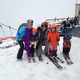 Mike and Gillian Morris on the mountain with sons Olson and Kane and nephew Charlie  Photo courtesy Elisa Maines