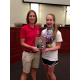 Recreation Coordinator Amy Bennett (left) presents Madison Lilley (right) with the 2014 Female Athlete of the Year Award. Photo courtesy of the city of Southlake.