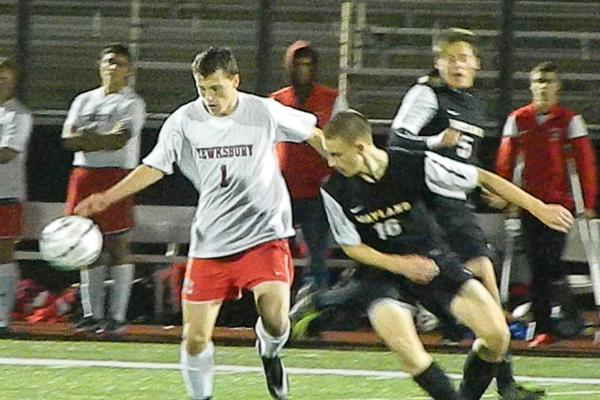 Junior forward Nick McKeon (1) led the TMHS attack in 2014.
