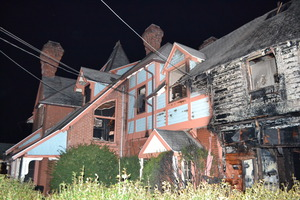 The Chalfant House was damaged by fire on Wednesday afternoon