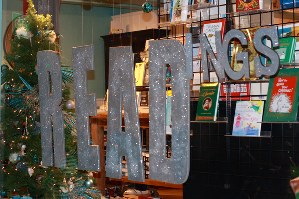 Pages bookstore had decorated its windows for the holidays. What's on your reading list?