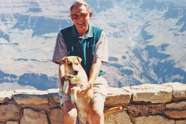 Jack visits the Grand Canyon with his beloved dog Ashley.