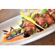 Bacon Wrapped Dates: applewood-smoked bacon, Medjool date stuffed with smoked Gouda cheese with a Balsamic Reduction.