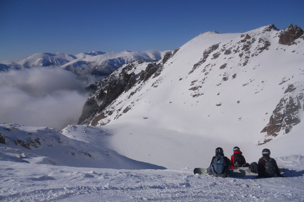 Untracked snowfields await on the back side of Cerro Catedral.