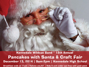 Pancake Breakfast with SANTA  Craft Fair - start Dec 13 2014 0900AM