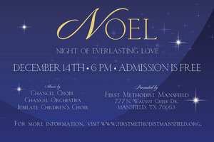 Noel Christmas Cantata - start Dec 14 2014 0600PM