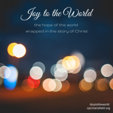 Joy to The World Seeing the Hope of the World Wrapped in the Story of Christ - start Nov 30 2014 1000AM