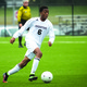 Bordentown's Andre Justin dribbles down the field in a home game against Northern Burlington Oct. 30, 2014. Bordentown won, 3-0. (Photo by Peter Ciarrocca.)