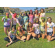 "SOS Service Club during a ""Color War."""
