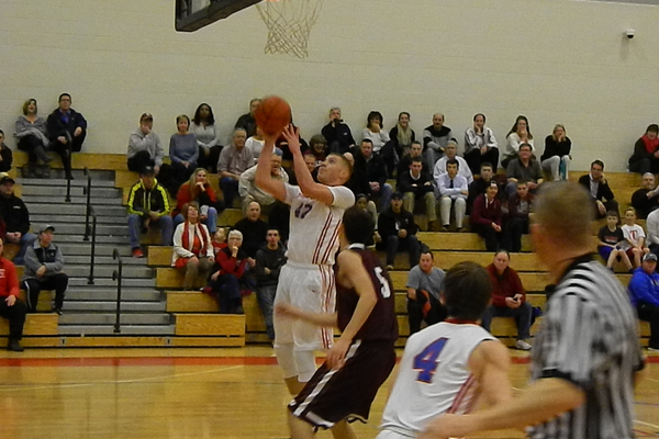 Justin Derrah was unstoppable on the fast break.