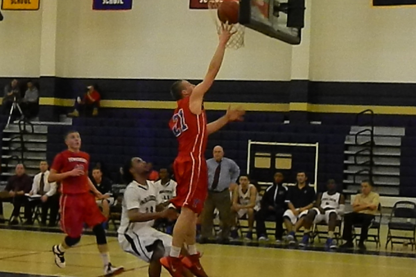Henry Roberts (21) had seven points against Malden.