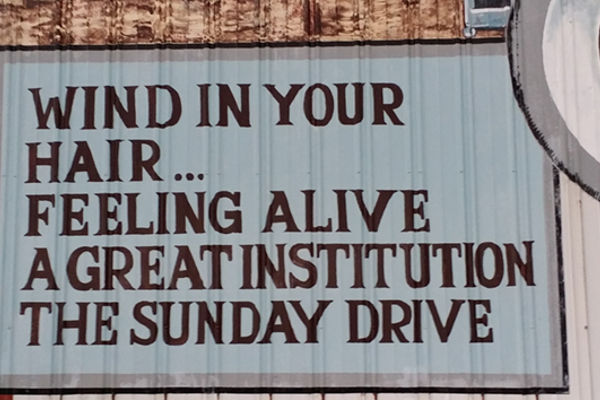 Murals painted on barns along the Lincoln Highway make for some fun reading.