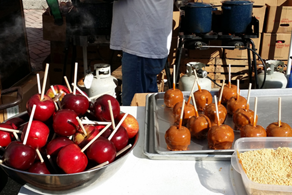 Candy apples at the Bedford County Fall Festival.