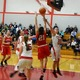 Karalyn Gallella (21) drives the baseline for two.