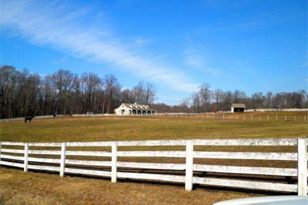 The property offers 19 acres of fenced open space for horses.