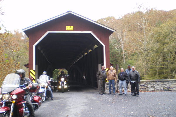 Covered bridges are a favorite destination for the area's riding groups.