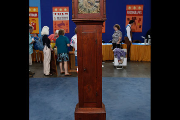 Courtesy photo A ca. 1760 clock by Isaac Jackson was appraised on 'Antiques Roadshow' in 2009.