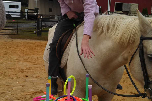Courtesy photo Mary Kiddwell practicing for Special Olympic Equestrian Sports.