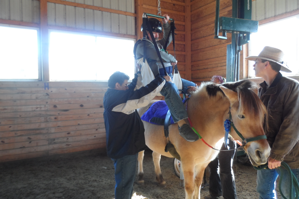 Courtesy photo Dale Hadderfield has made progress at Freedom Hills Therapeutic Riding.