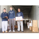 A tractor trailer was loaded with food donated from throughout the community at Unionville High School.