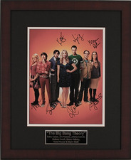 Among the auction items is a poster signed by all the cast members of The Big Bang Theory