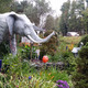 Mister Eds Elephant Museum has two outdoor gardens which are home to some of the larger elephant statues