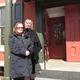 Deborah Buckson (left) and Carla Pyle in front of the Historic Odessa Foundation headquarters.