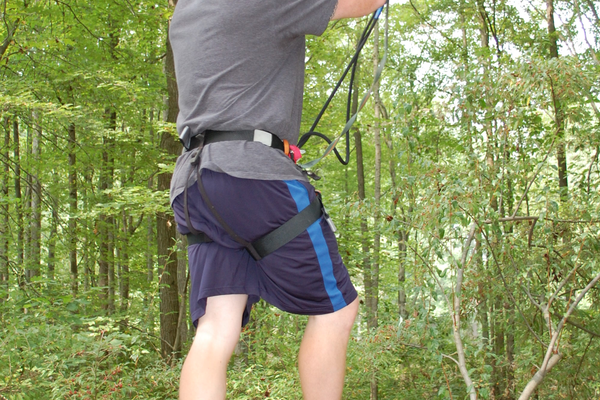 Getting through a Go Ape obstacle course requires both patience and balance.