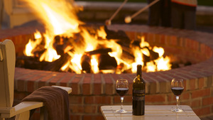 A cozy night by the fire is all you need for love this Valentines Day