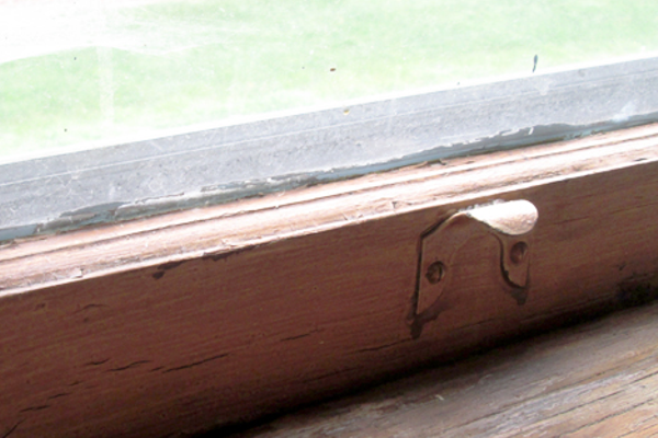 Original window sills reflected nearly a century of use.