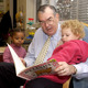 Funk reads to children during one of his appearances as mayor.