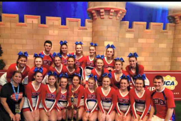 The Tewksbury High Cheerleading Squad at the Nationals in Orlando, Fla.