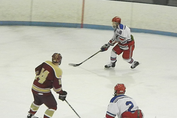 Ryan Petti (8) attacks the Concord goal.