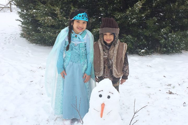 FROZEN Queen Elsa, Kristoff, and Olaf (Isabella & AJ Robles). Photo courtesy of Nidia Soto Robles.