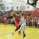 Alex DiRocco (3) drives to the hoop.