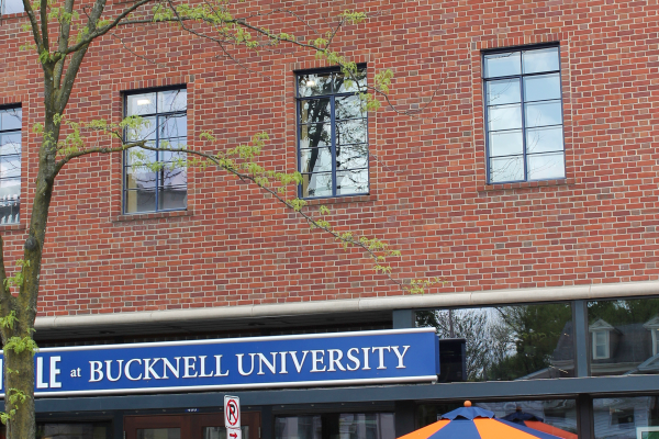 The Bucknell Bookstore attracts 350 people a day to the downtown.