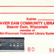 Beaver Dam Community Library card until library was automated.