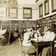 The Beaver Dam citizens using the Williams Free Library in the early years. Date unknown.